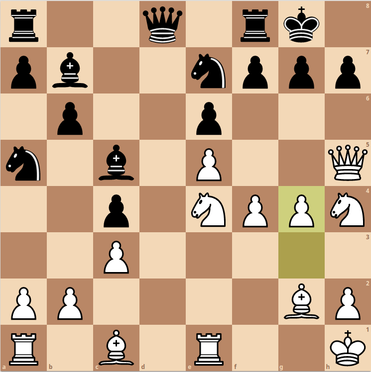Second key position from Fischer's attack against Geller