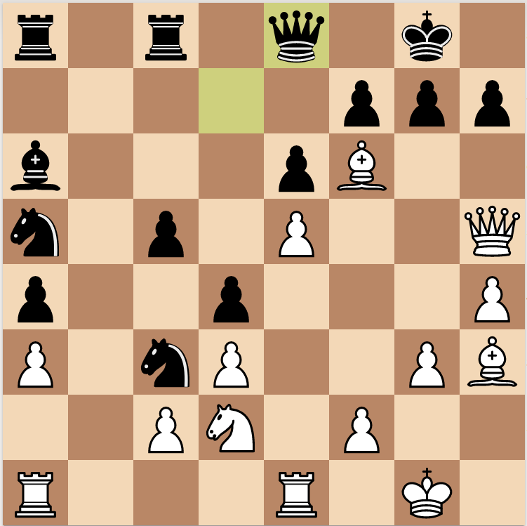 Second key position in Fischer's Attack against Myagmarsuren